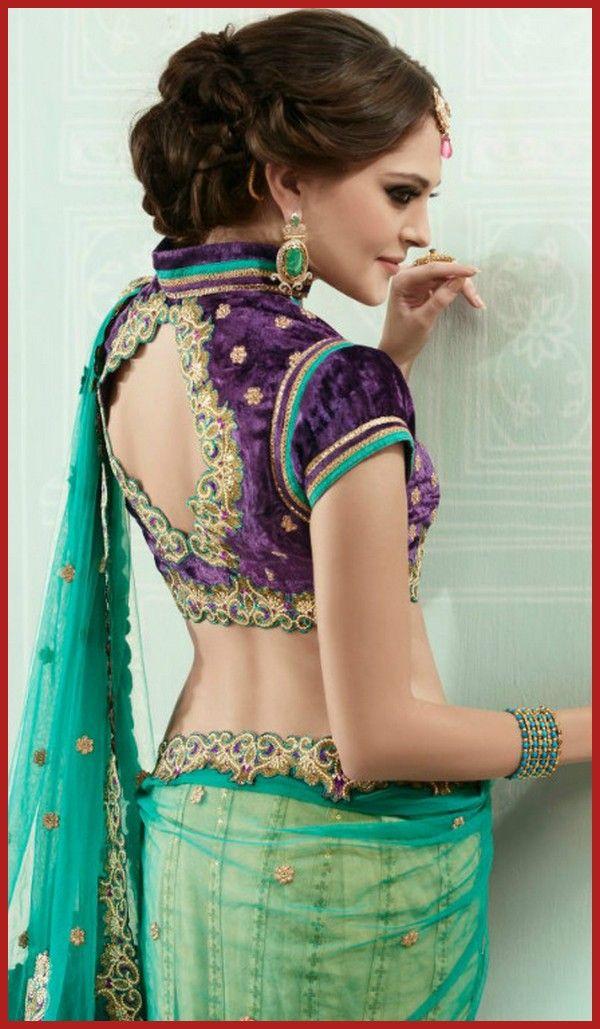 Stylish Back Neck Saree Blouses