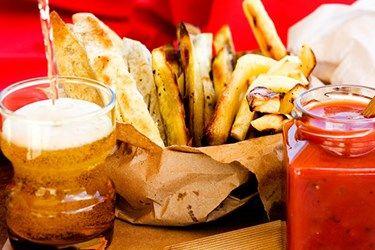 Kumara, Parsnip and Taro Chips with Tomato Sauce
