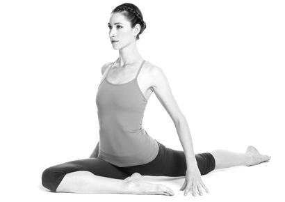 halfpigeon yoga pose to ease stress  yoga poses for