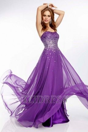 A-Line/Princess Strapless Sweetheart Chiffon Prom Dress - IZIDRESS.COM