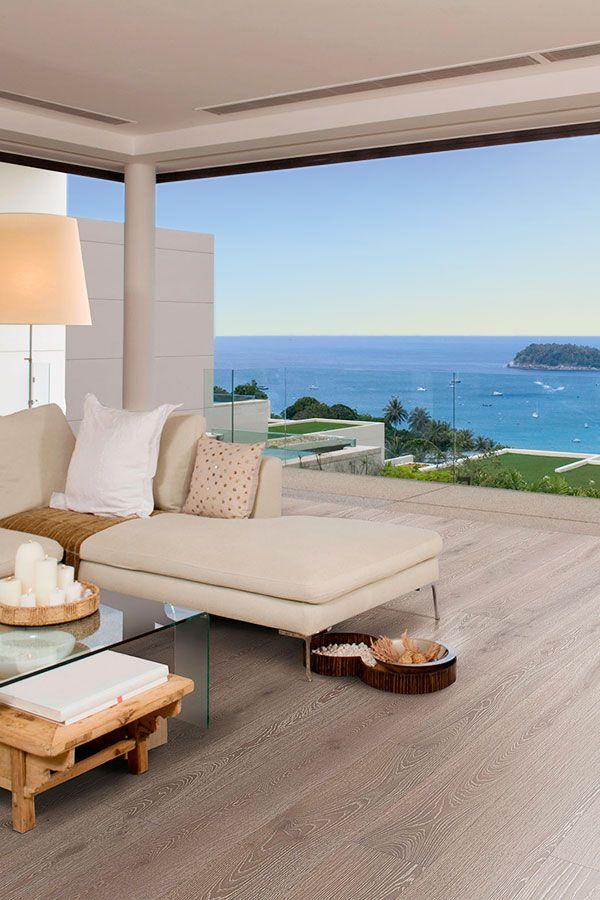 Ein Häuschen am Meer mit tollem Ausblick und wunderbarem Fußboden