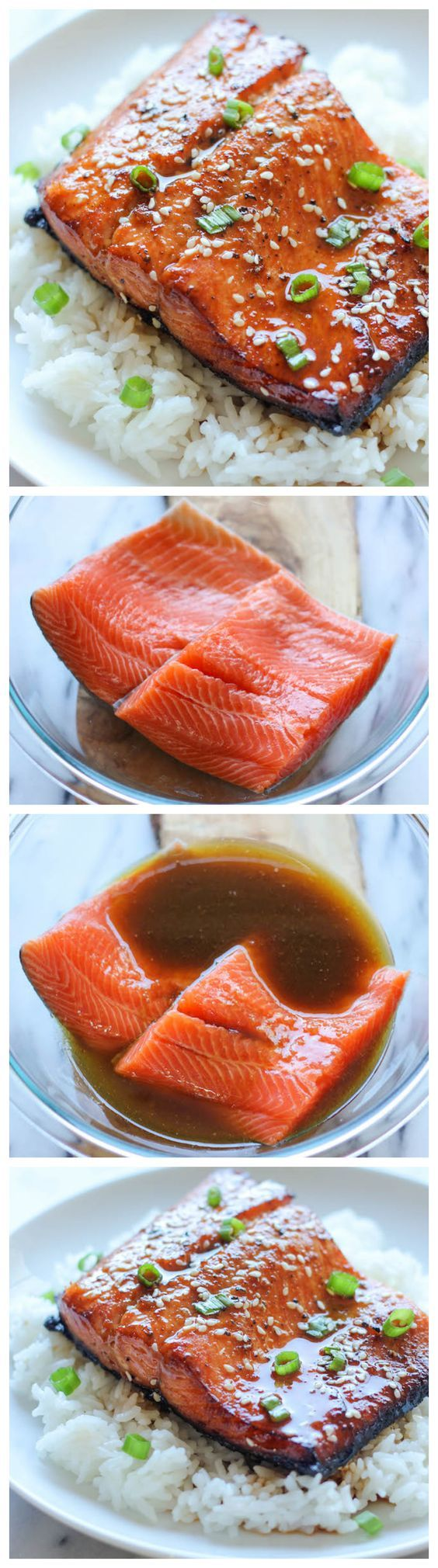 Sesame Ginger Salmon - A super easy salmon dish bursting with so much flavor, and it's hearty-healthy too!  Really good- crowd pleaser with entire family!