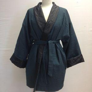 Image of Sort kimono jakke med thermo foer