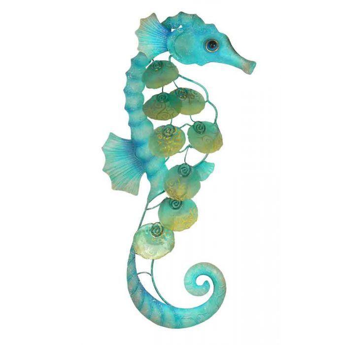 Seahorse Home Decor Wall Art Coastal Decor By Seashoresecrets: Home :: Metal Wall Art :: Fish, Beach & Ocean :: 3D