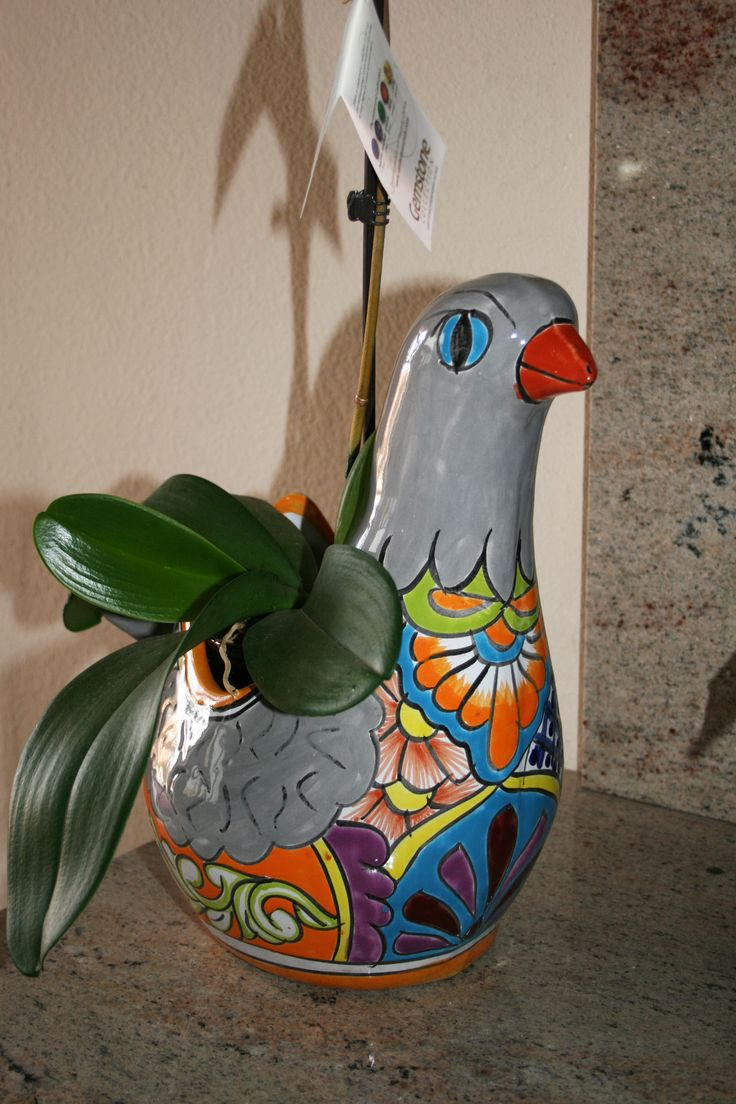 Talavera ceramic birdbaths eclectic bird baths phoenix by - Modern Era Mexican Pottery Talavera Dove Bird Planter Bought Santa Fe New Mexico