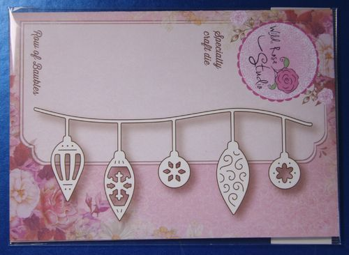Wild Rose Studio 'Row of Baubles' Christmas Die SD035 | Craft-House.co.uk