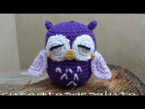Cómo hacer un búho crochet paso a paso | Crochet y Dos agujas - Patrones de tejido