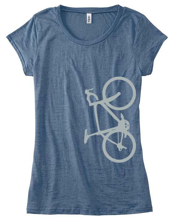 Burnout Tee - Silver Bike T-Shirt - Bicycle T- Shirts - Bicycle Shirts - Custom Bicycle Clothing