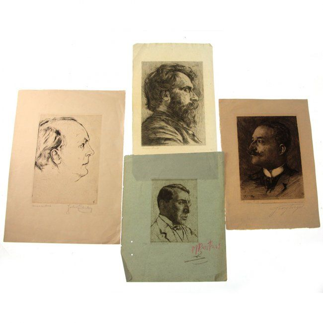 Hermann Struck - 4 Portraits Etchings. : Lot 42