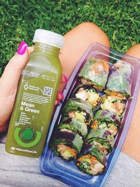 Rice spring rolls, vegan, clean eats