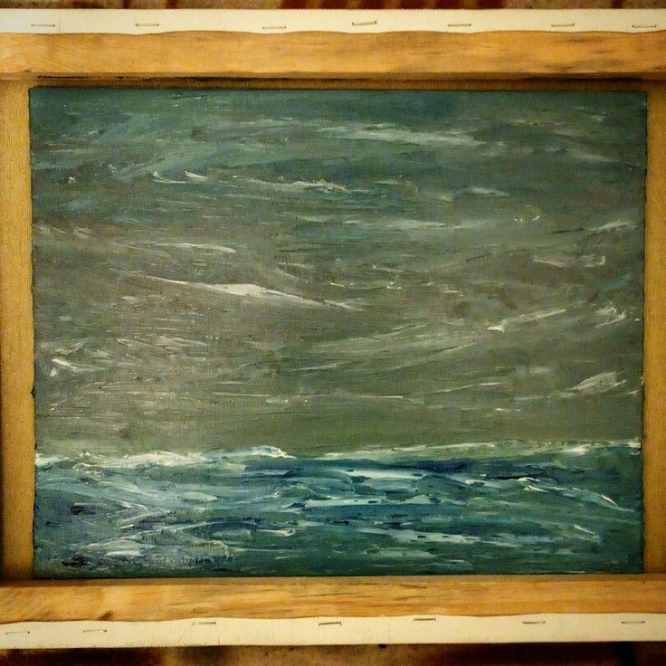Circle north atlantic ocean 20x20 #sea #waves #storm #sky #water #clouds #art #oil #oilpainting #canvas  #ocean #painting #wind #ветер #море #океан #волны #шторм #небо #облака #арт #искусство #моренистика #волнения #масло #iceberg #north #atlantic
