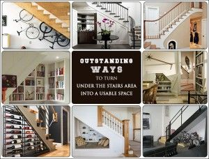 10 AWESOME WAYS TO GIVE A #MAKEOVER TO THE AREA UNDER STAIRS!!  #couponraja #homedecor