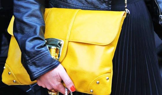 Maxi clutche amarela