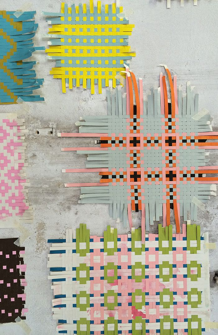 Back in 2014 textile designers Helle Gråbæk and Maria Kirk Mikkelsen collaborated on a project to 'Salute the Sketch'. These incomplete weavings, like a sk