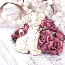 Чипборд Маленький лев 56*84мм vl1785