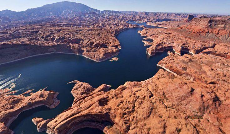 El Lago Powell, Utah, Estados Unidos. Foto: Airpano.ru