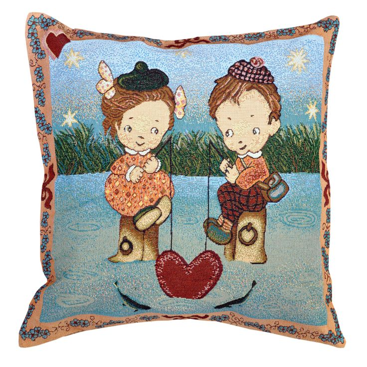 River of Love Tapestry Cushion 50x50cm