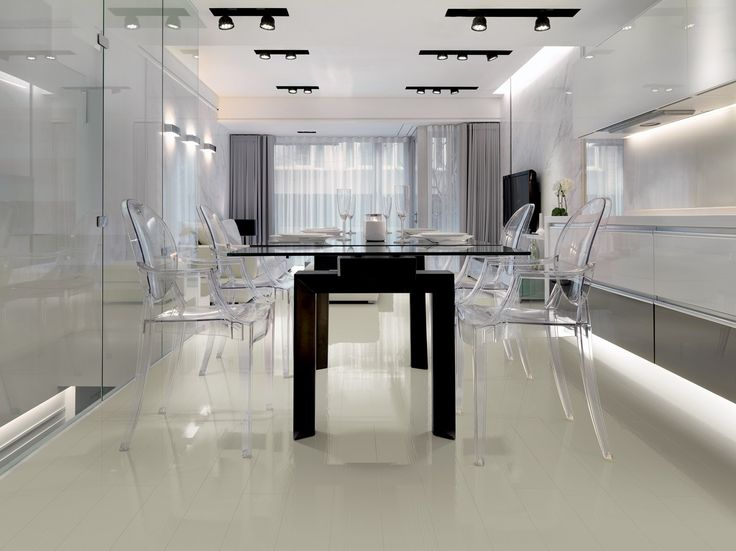 the warmth of the #wood combined with a #mirror-effect surface: collection Mirall, #parquet Grigio Nebbia by Woodco