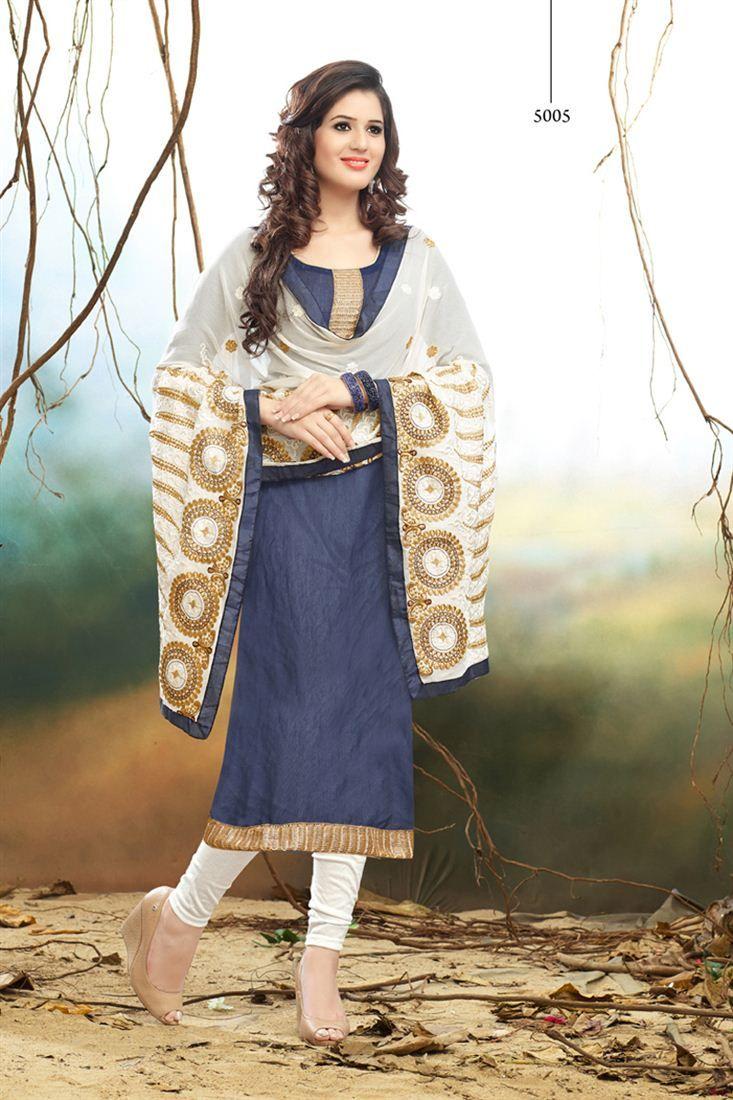 Beautiful Straight Cut Cotton Salwar Kameez