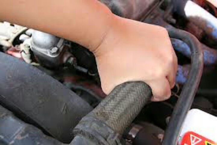 Hoses that feel soft or crack when slightly squeezed. .indicate time for replacement.