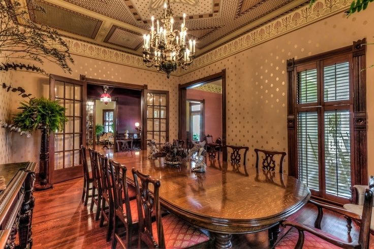 Victorian dining room victorian style dining room for Victorian dining room ideas