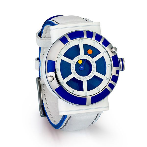 Everyone loves R2-D2 and if you are a super fan, you may want an R2-D2 watch for your wrist. This Star Wars R2-D2 Designer Watch is a cool one to wear.  This watch looks just like the little droid we all love. It features a genuine le