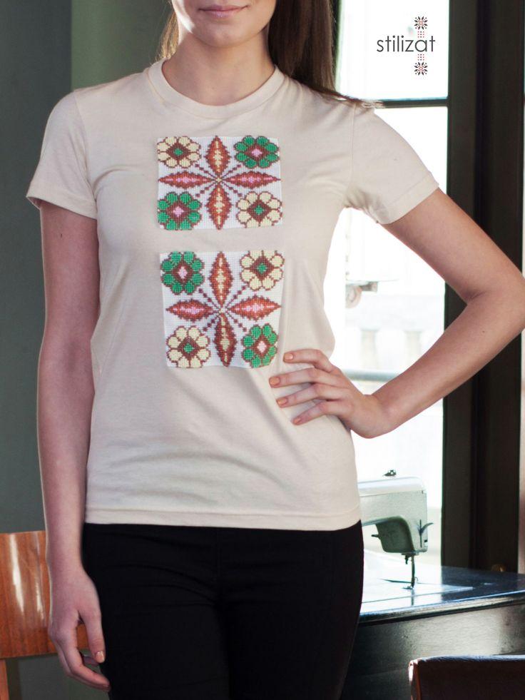 Tricou din bumbac cu flori
