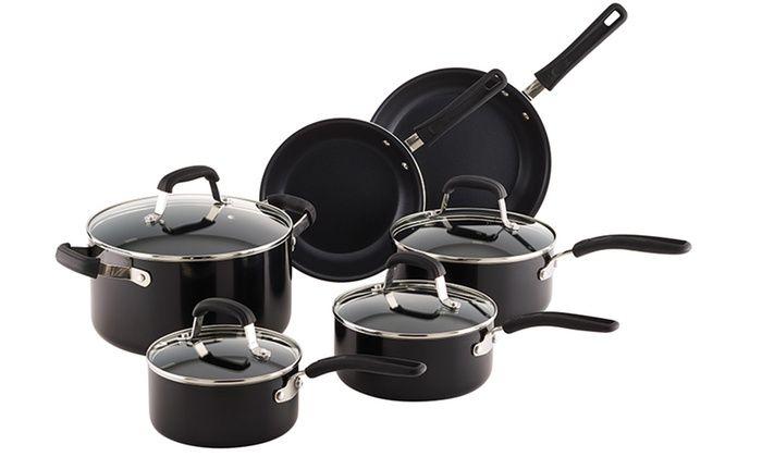 Guy Fieri Nonstick Cookware Set (10-Piece): Guy Fieri Nonstick Cookware Set (10-Piece)