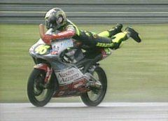 Valentino Rossi always has a trick to show.