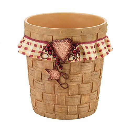 Avanti Hearts and Stars Waste Basket, Multicolored by Avanti Linens