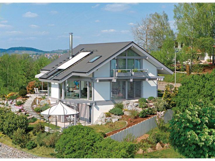 Kundenhaus gerlacher einfamilienhaus von davinci haus for Fertighaus satteldach modern