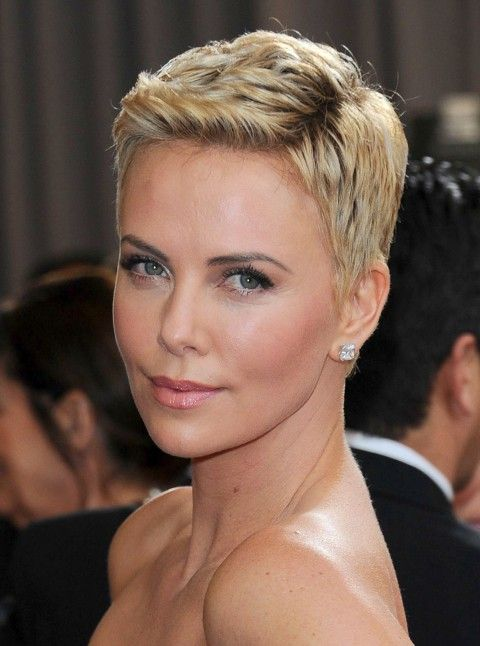 Charlize Theron short hair