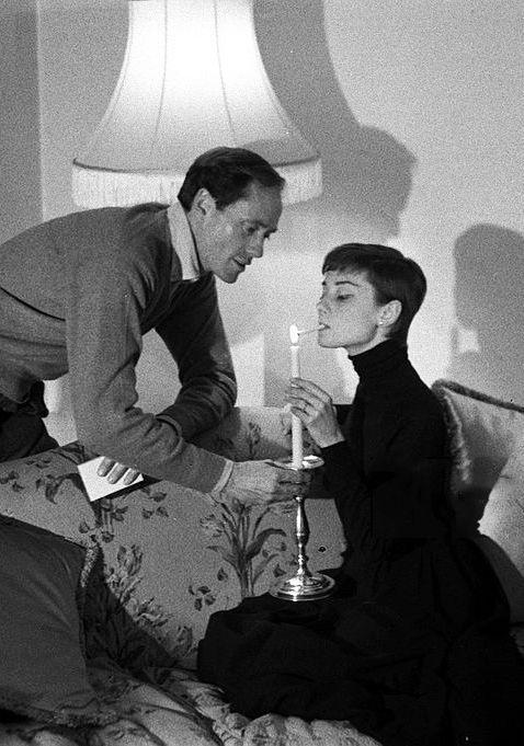 Rare Audrey Hepburn — Audrey Hepburn and Mel Ferrer in England, 1954.