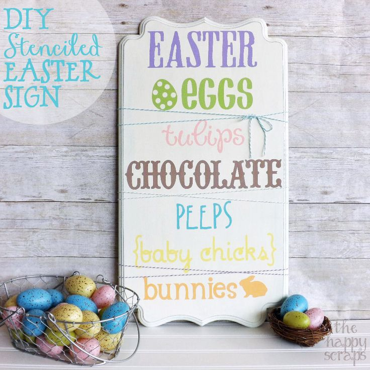 A Little Tipsy: DIY Stenciled Easter Decor
