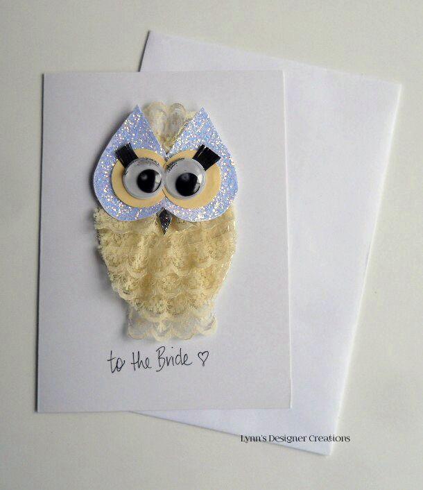 Wedding Google eyed Owl Card - to the Bride  Greeting Card/Envelope