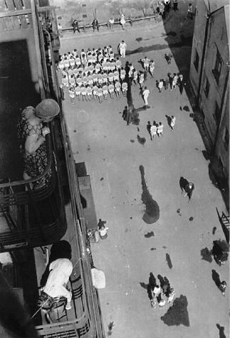 Alexander Rodchenko  Gathering for the demonstration  in the courtyard of the VChUTEMAS  (Higher Institute of Technics and Art)  1928