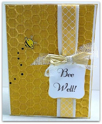 Get Well Card - Bee Themed