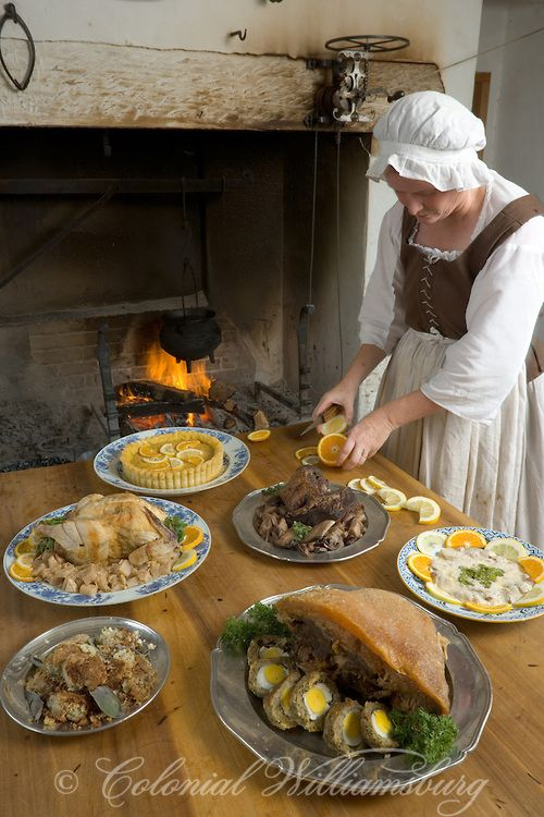 Cooking at the Peyton Randolph Kitchen, Colonial Williamsburg