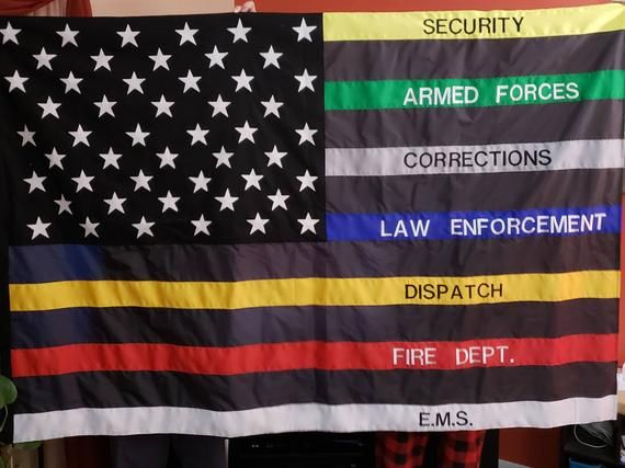 First Responders Flag American Flag Wallpaper Flag Cop Flag