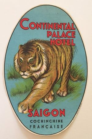 The golden age of luggage labels – in pictures  Continental Palace Hotel, Vietnam  Now called Hôtel Continental, this establishment is in Ho Chi Minh City, formerly Saigon, next to the opera house. It was built in 1880, in French colonial style. It featured in The Quiet American, a novel by long-term guest Graham Greene.