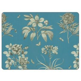 Buy Sanderson for Pimpernel Etchings & Roses Blue Placemats, Set of 6 from our Placemats & Coasters range - Tesco