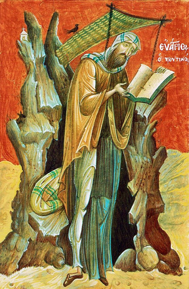 """""""Whoever is yearning for true prayer but also becomes angry or remembers injuries, can't be anything but insane: it is like wishing for good eyesight while tearing out your own eyes.""""- Evagrius of Pontus (Evagrius the Solitary)"""