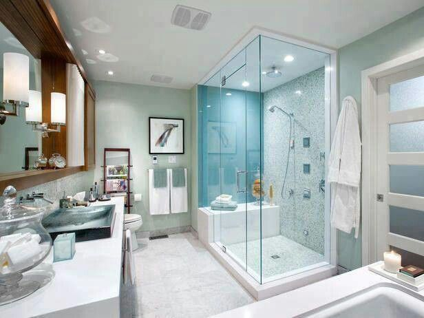 Love The Frosted Glass Pocket Door Spa Like Retreat 5 Stunning Bathrooms By Candice Olson On Hgtv