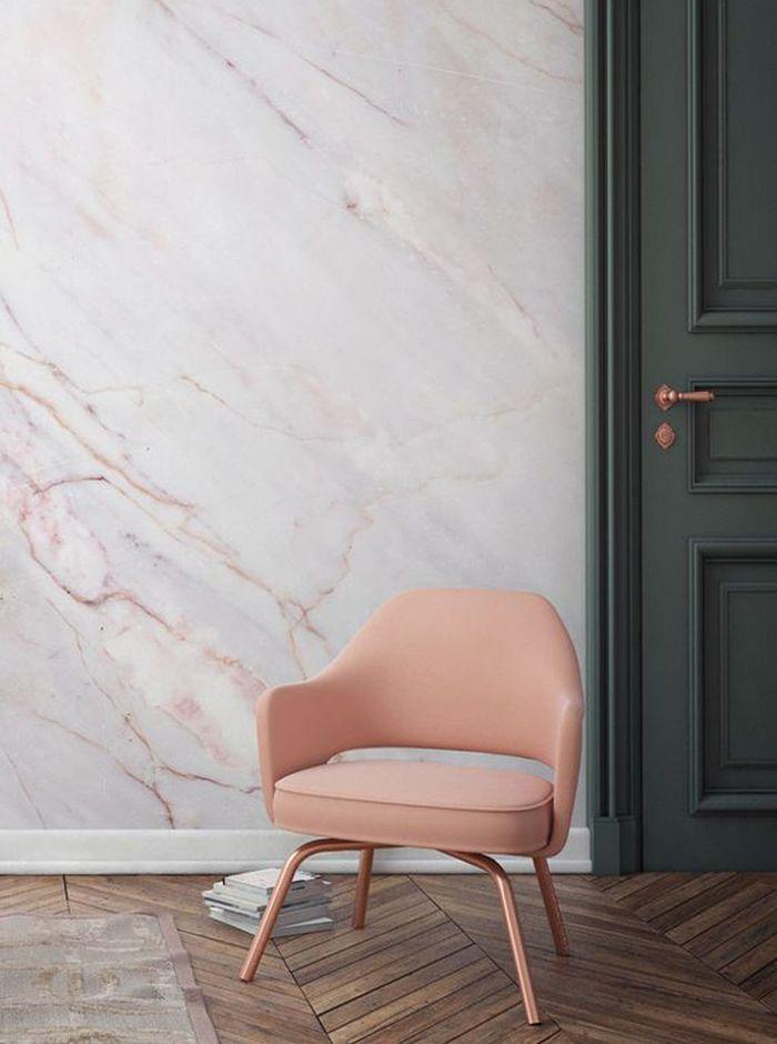 Papir peint Marbre rose by Murals wallpaper