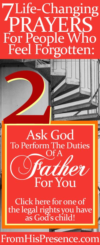If you feel forgotten, ask God to perform the duties of a Father for you and promote you. Here's how and why! #Hope #Progress #Encouragement #Faith