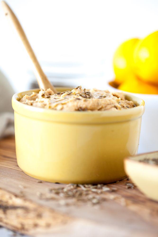Miso Cumin White Bean Hummus. Recipe from http://keepinitkind.com/miso-cumin-white-bean-hummus/.