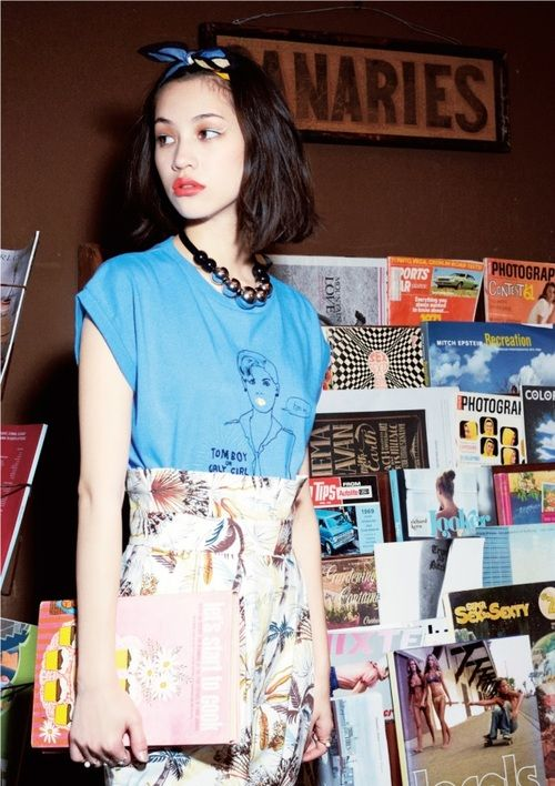 Necklace <3 (without the black beads and string showing) iko Mizuhara 水原希子 SLY