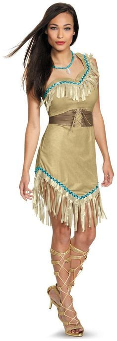 PartyBell.com - #Disney Princess Pocahontas Deluxe #AdultCostume