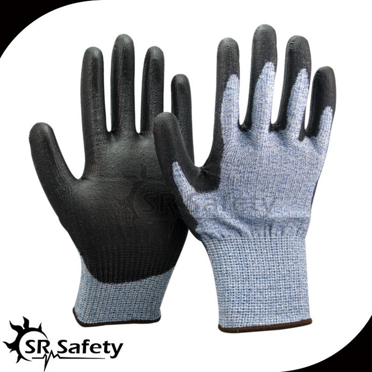 SRSAFETY 1 Pairs 13 guage blue nylon HPPE working gloves,cut level 5 Soft Cut Resistant Gloves #Affiliate