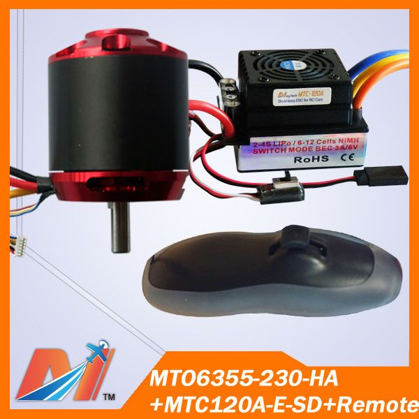 Maytech skateboard parts 6355 230KV hall sensor motor with 120A ESC with remote Free Shipping
